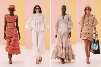Handmade's tale ... looks from Zimmermann's resort collection.