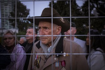 Hundreds of people, including John Murphy, wishing to pay their respects were locked out of the Shrine and the Anzac Day Dawn Service.