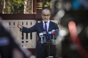 Deputy Premier James Merlino on Tuesday. He indicated vaccinations may be required for more industries.