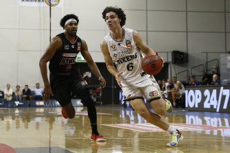 Josh Giddey in action for the 36ers.