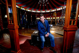 Jonathan Holloway at the Famous Spiegeltent, which will host free music each night of the festival.