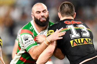 The Rabbitohs appear to be making a mockery of their own policy in offering 31-year-old Mark Nicholls a two-year extension.