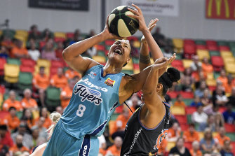Power: Liz Cambage was a force for the Flyers.