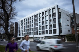 The Aparthotel Cremorne Apartment complex on Punt Road was listed as a tier-2 exposure site on Friday.