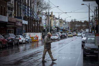 Union Road, Ascot Vale on Friday afternoon.