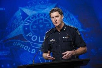 Victoria Police Chief Commissioner Shane Patton.