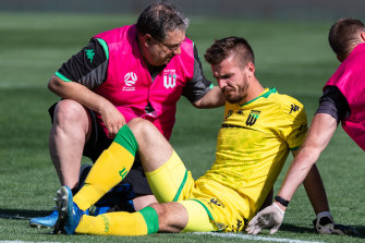 Filip Kurto was injured early in last weekend's victory over Adelaide United.