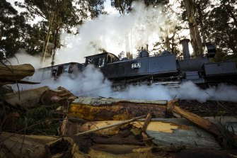 The welcome sound of Puffing Billy returned to the storm-ravaged area this weekend.