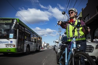 Darebin resident Ruth Jelley is advocating for a cycling lane on High Street, Thornbury.