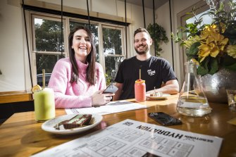 Kerry Osborn and Andrei Miulescu, co-founders of Mr Yum, at Serotonin Eatery