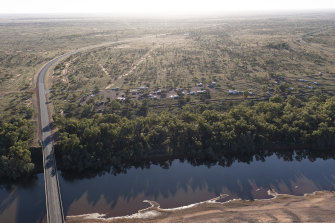 With so many travellers heading to the outback during the pandemic campsites book up quickly. Vans and trailers at a campsite on the De Grey River, WA, on Friday.