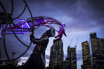 Birrarung Marr will be teeming with acrobats.