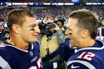 Rob Gronkowski and Tom Brady spent almost a decade together in Boston, winning three Super Bowls.