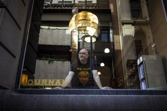 Johnny Vakalis, proprietor of Journal Cafe in Flinders Lane.
