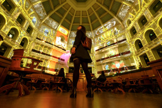 This year's State Library work continues last year's theme with an immersive projection story taking viewers into the heart of books.