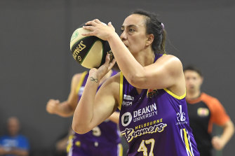 Ashleigh Karaitiana of the Boomers was a force to be reckoned with.