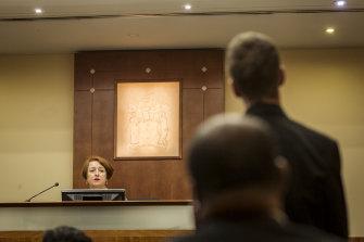 Magistrate Jelena Popovic in court in 2018.