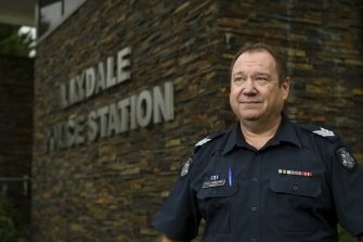 Sergeant Vaughan Atherton from the Lilydale Police Station helped return the medal.