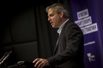 Victorian Chief Health Officer Professor Brett Sutton on Saturday.