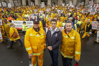 Victorian liberal leadership contender Brad Battin came to prominence during the restructure of the local country fire service.