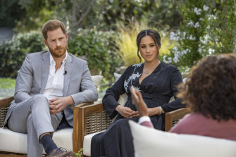 Prince Harry and Meghan were interviewed by Oprah Winfrey at an unidentified friend's property in California.