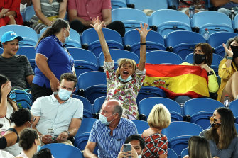 Nadal said he did not know the woman who had disrupted play during his match.
