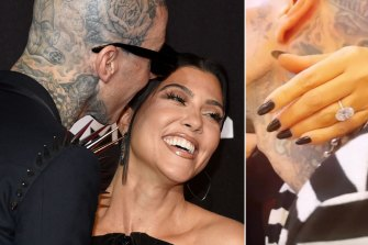 Kourtney Kardashian's $1US million ($1.35 million) engagement ring is right on the money when it comes to jewellery trends