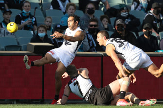 Eddie Betts in action against Port Adelaide on Saturday.