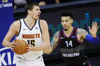 Nikola Jokic and the Nuggets beat a severely undermanned 76ers side.