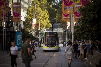 Melburne's CBD has yet to see crowds return to pre-COVID levels