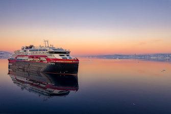 Hurtigruten's MS Roald Amundsen is a battery-diesel hybrid ship designed for polar exploration.