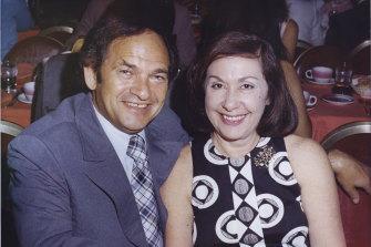 Abe Saffron and his wife Doreen.