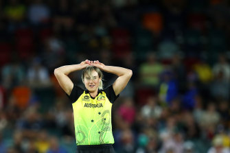 Hamstrung: Ellyse Perry will miss the rest of the Twenty20 and ODI series against New Zealand.