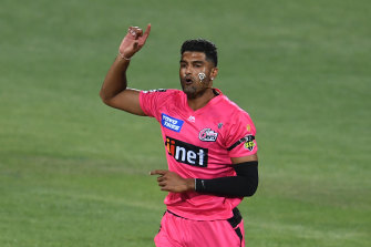 Sixers fast bowler Gurinder Sandhu has expressed his disappointment over news Sydney Big Bash games could be relocated amid the Avalon cluster