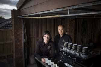 Karine and Jason Hart, who run a sole trader coffee cart business, have seen all their income for the next week disappear with the announcement of Melbourne's circuit breaker lockdown