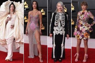 From left: Noah Cyrus, Dua Lipa, Phoebe Bridgers, Taylor Swift.
