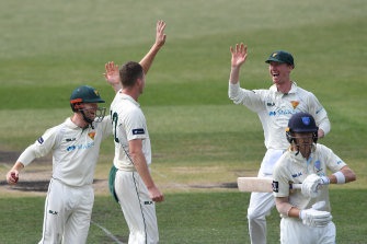 Jackson Bird finished with career best figures as NSW collapsed in stunning fashion.