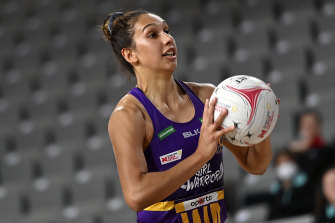 Queensland Firebird Jemma Mi Mi has been the only Indigenous player in Super Netball for the past two years.