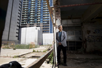 Shesh Ghale, CEO of of development company MIT Holdings inside his stalled development at 388 William Street.