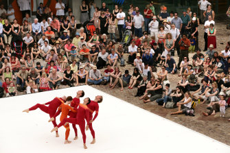 The residency culminated in a public performance at Federation Square.