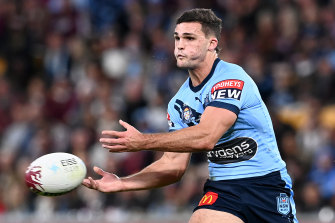 Nathan Cleary is in doubt for Origin III because of a shoulder injury.
