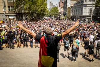 Thousands marched through the streets of Melbourne to protest Australia Day.
