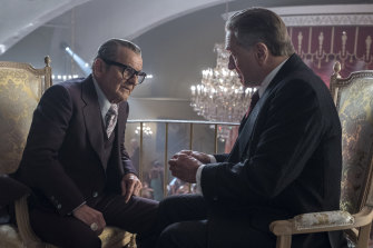 Joe Pesci and Robert De Niro in the Netflix movie The Irishman.