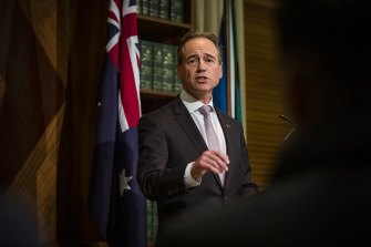 Health Minister Greg Hunt says telehealth services have been vital for Australians during the coronavirus pandemic.