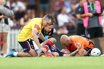 Roosters veteran Jake Friend was knocked out in round one of the NRL this season. He has since retired.