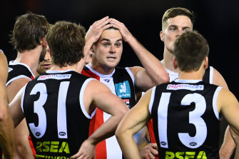 Brad Crouch may be right to play next round, despite a fractured cheekbone.