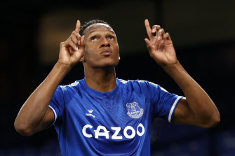 Yerry Mina scored the winner for Everton.