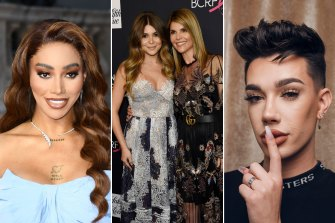 Beauty ambassadors without immunity. Munroe Bergdorf, Olivia Jade (with mother Lori Loughlin) and James Charles all lost lucrative contracts with beauty companies.