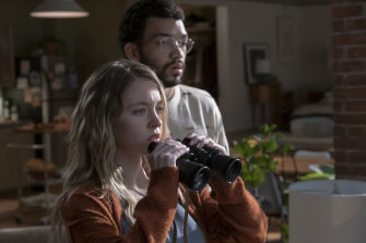 Sydney Sweeney and Justice Smith get sucked into snooping on their neighbours in The Voyeurs.