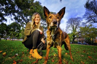 Kate Meehan with 10-year-old Taz.